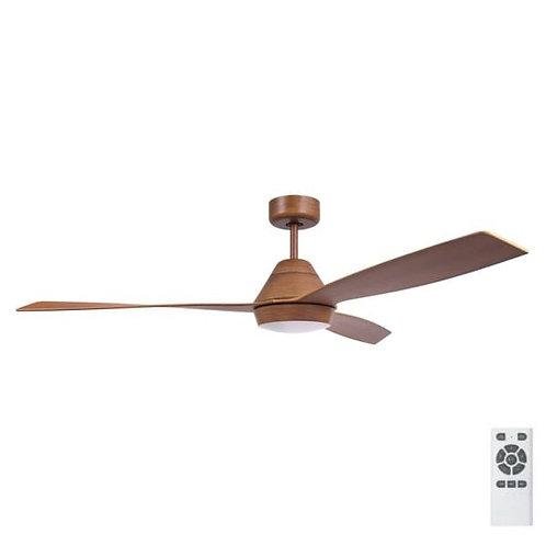 """Fanco Eco Breeze DC 52"""" (1320mm) Ceiling Fan with LED - Koa with Koa Blades"""