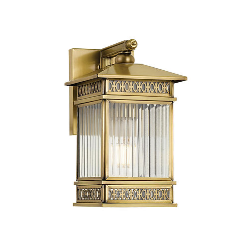 Avera small Antique brass wall light