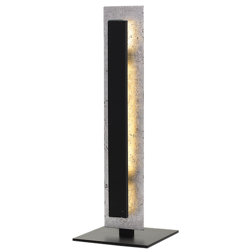 Serano chrome textured 9w LED table lamp