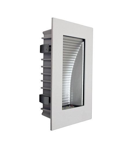 AT9501 White rectangular stair light- clear fascia