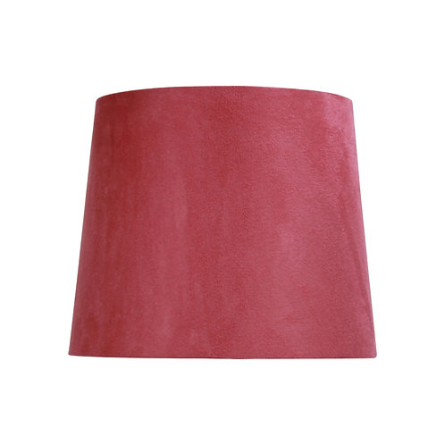 Coral suede 27cm tapered drum shades