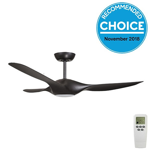 "Fanco Origin DC 56"" (1420mm) Ceiling Fan with LED - Black"