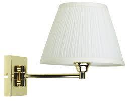 Swingley brass wall light