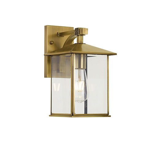 Coby antique brass exterior wall light - SMALL