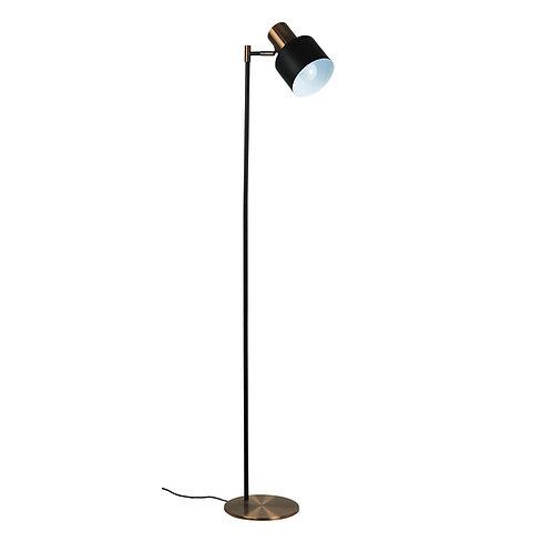 Ari black and copper floor lamp