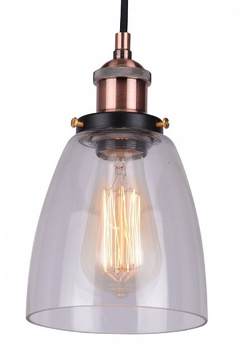 P1764 Clear dome glass with industrial look cord