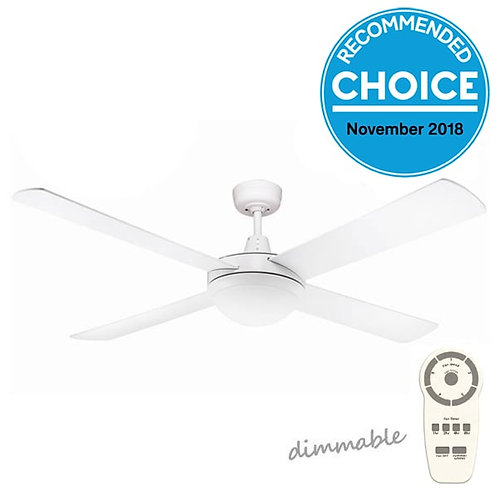 """Fanco Urban 2 DC 52"""" (1320mm) Ceiling Fan with LED - White"""