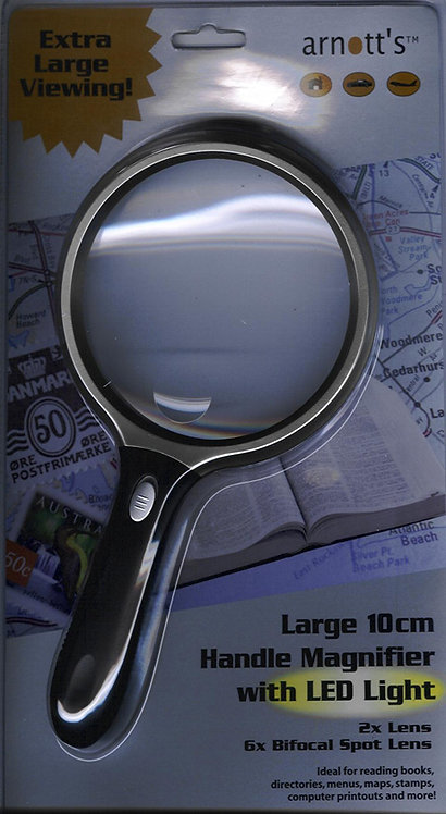10cm Circular Handle Magnifier with LED Light