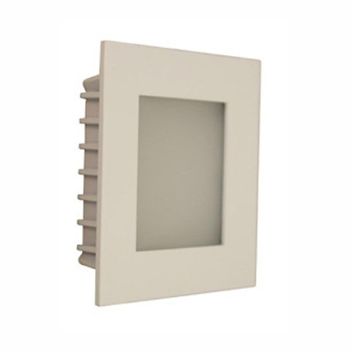AT9500 White square stair light - opal fascia