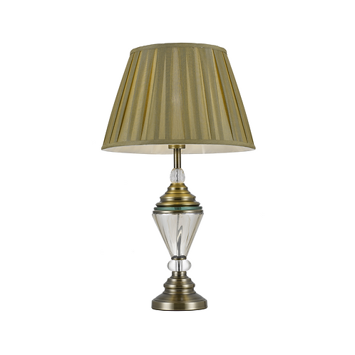 Oxford antique brass table lamp