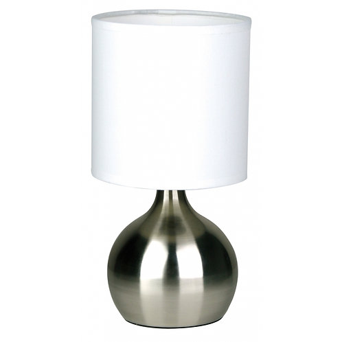 Lotti Brushed Chrome Touch Lamp
