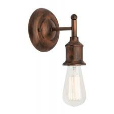 Leona antique copper industrial wall light