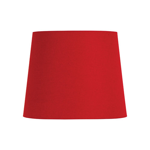 Red linen 27cm tapered drum shades