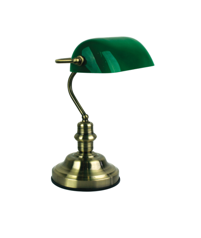 Bankers Touch Lamp Antique Brass