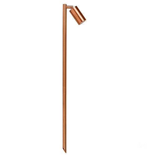 Copper finish 1lt adjustable 12v path spike spot