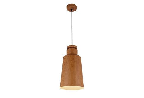 Small Hamil timber look metal pendant