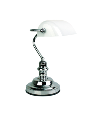 Bankers Touch Lamp Chrome