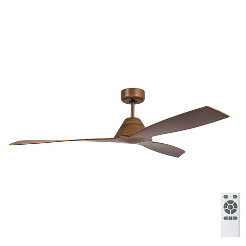 "Fanco Eco Breeze DC 52"" (1320mm) Ceiling Fan - Koa with Koa Blades"