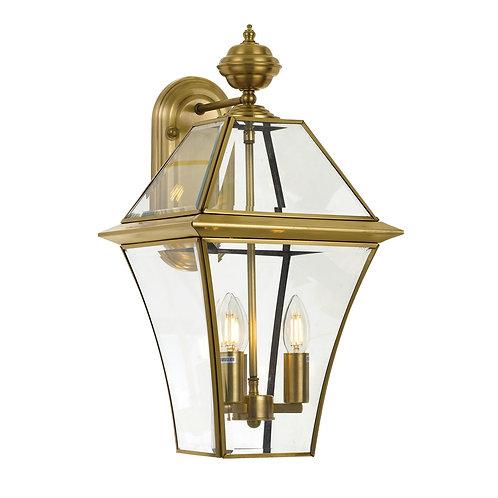 Rye antique brass 3lt exterior wall light