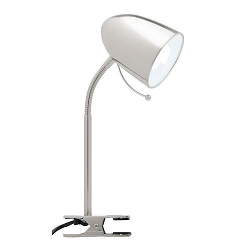 Sara Clamp Lamp - Brushed Chrome