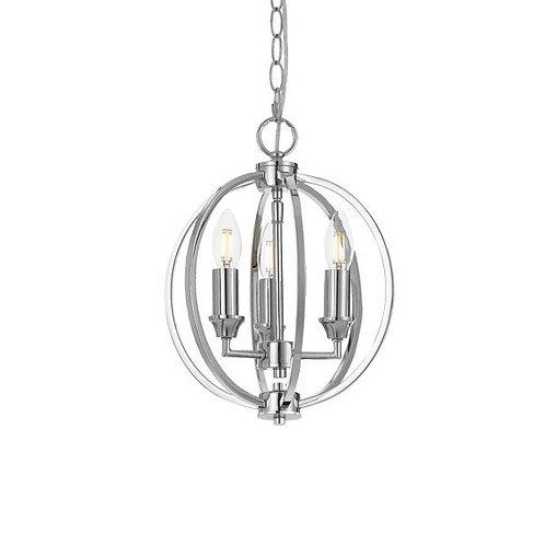 Kendall chrome 3lt pendant