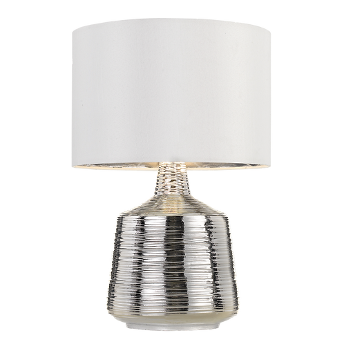 Sylvia chrome textured table lamp