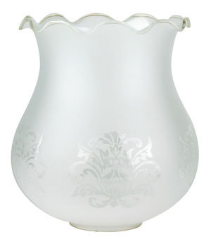 RG301 Frost glass with floral etch