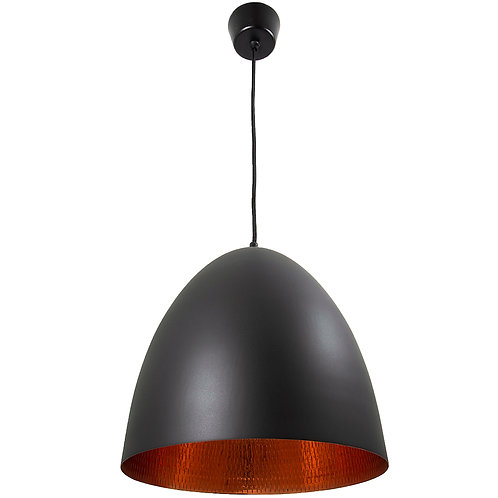Emac and Lawton black and copper egg pendant