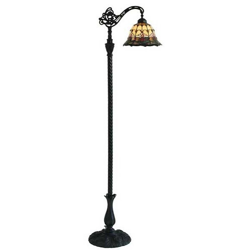 "Red Tulip 10"" Bridge Floor Lamp"