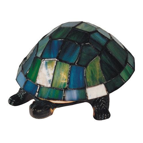 Leadlight turtle light blue
