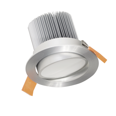 Phantom 15w adjustable satin chrome LED downlight