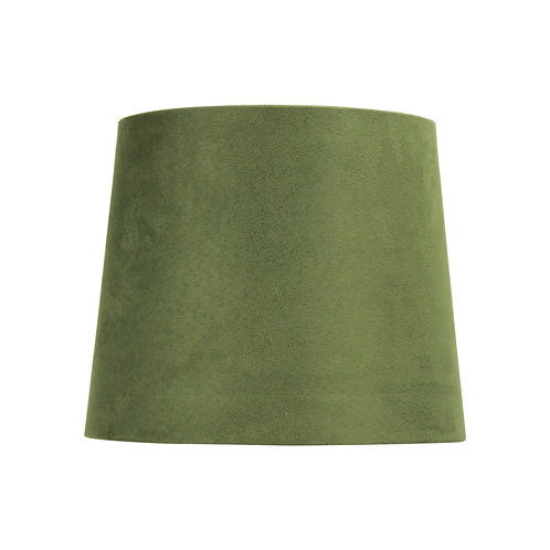 Olive suede 27cm tapered drum shades