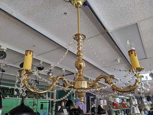 3lt Cast chandelier with strass crystal