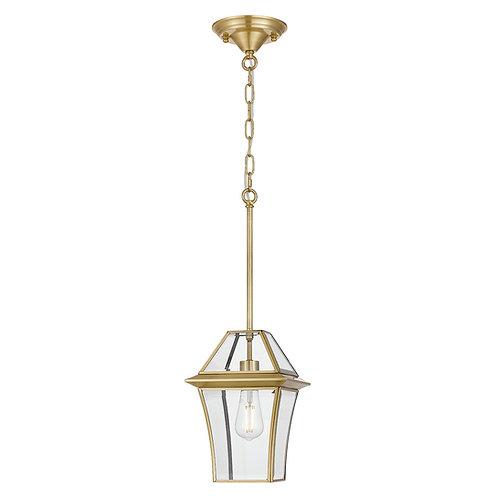 Rye 1lt antique brass exterior lantern