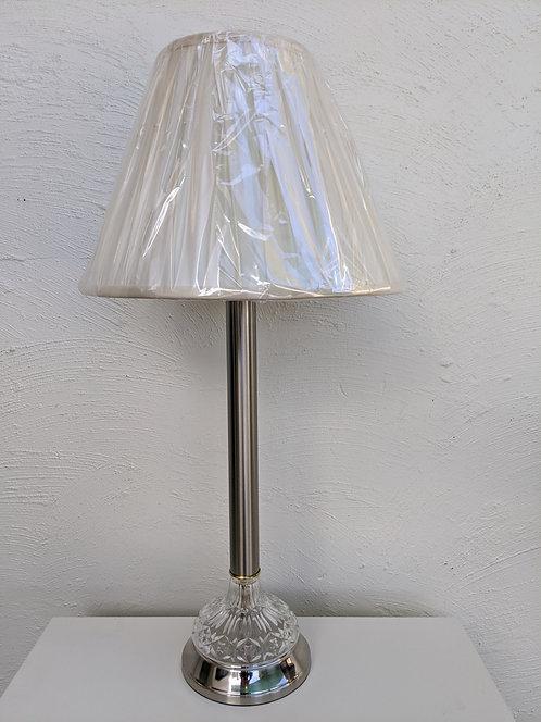 Classique satin chrome table lamp