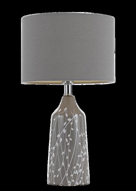 Neta coffee and grey table lamp