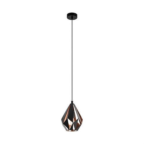 small Carlton black/copper pendant