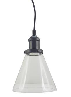 P1720B Clear conical glass with industrial look cord