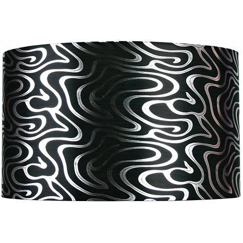 Black swirl drum shade