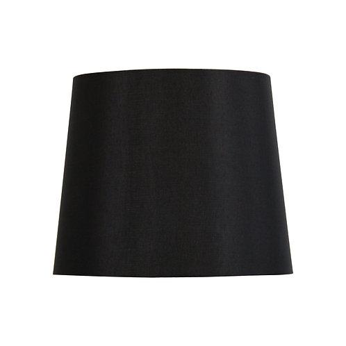 Black satin 27cm tapered drum shades