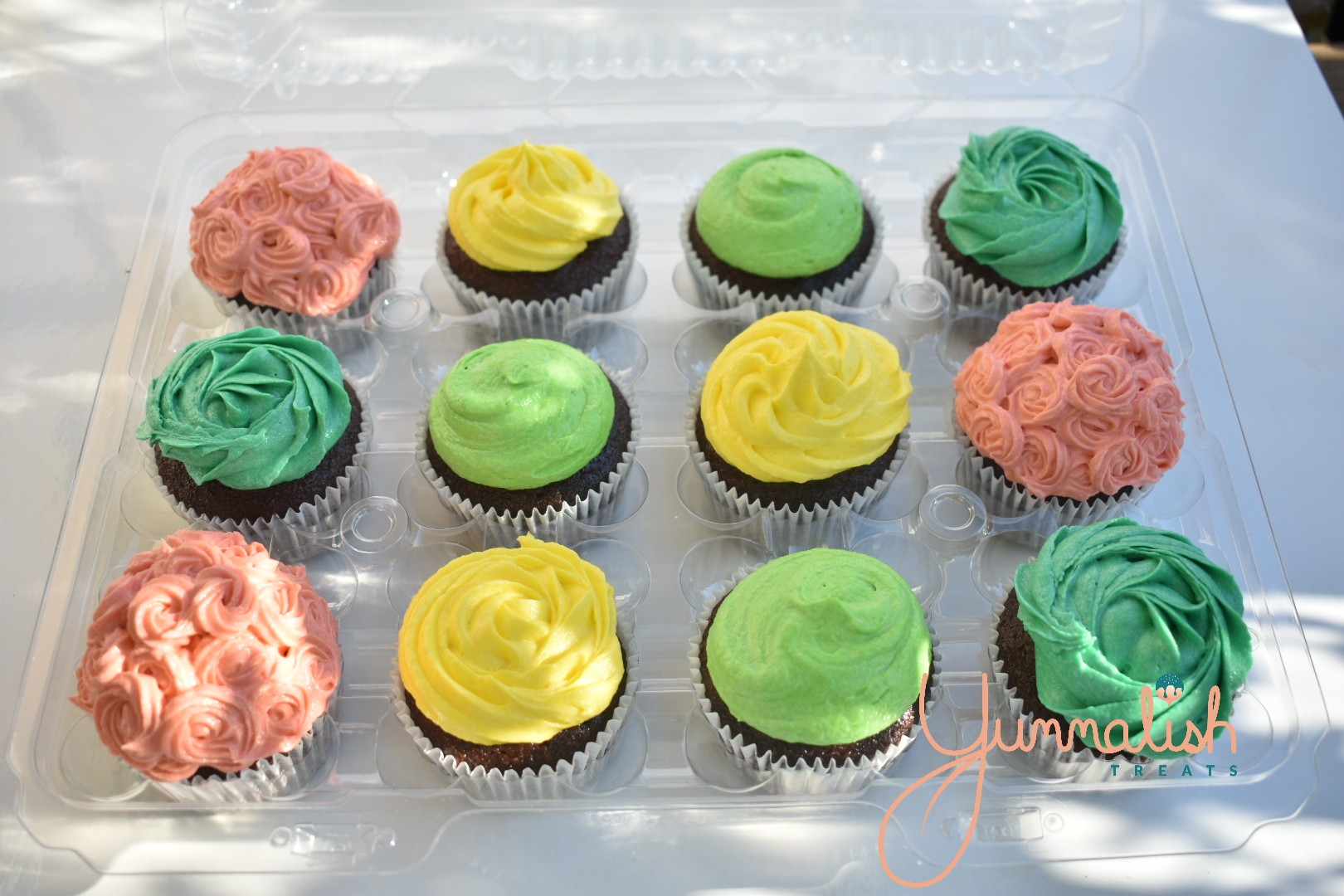 Bright Coloured Cupcakes