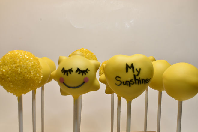 You Are My Sunshine Cake Pops