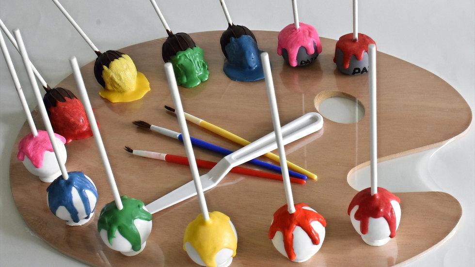 Art themed cake pops