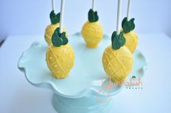 Custom Pineapple Cakepops