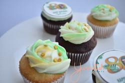 Custom 80th Birthday Cupcakes