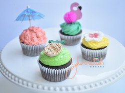 Custom Hawaiian Themed Cupcakes