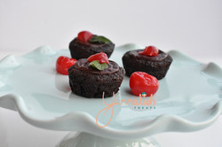 Brownie Bites Topped with Ganache