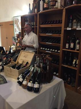 Vinbutiken hos Antonio Facchin.