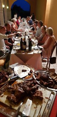 På fest hos Antonio Facchin i San Polo di Piave.