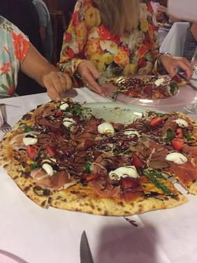 Pizza hos Maggi i Nonantola.